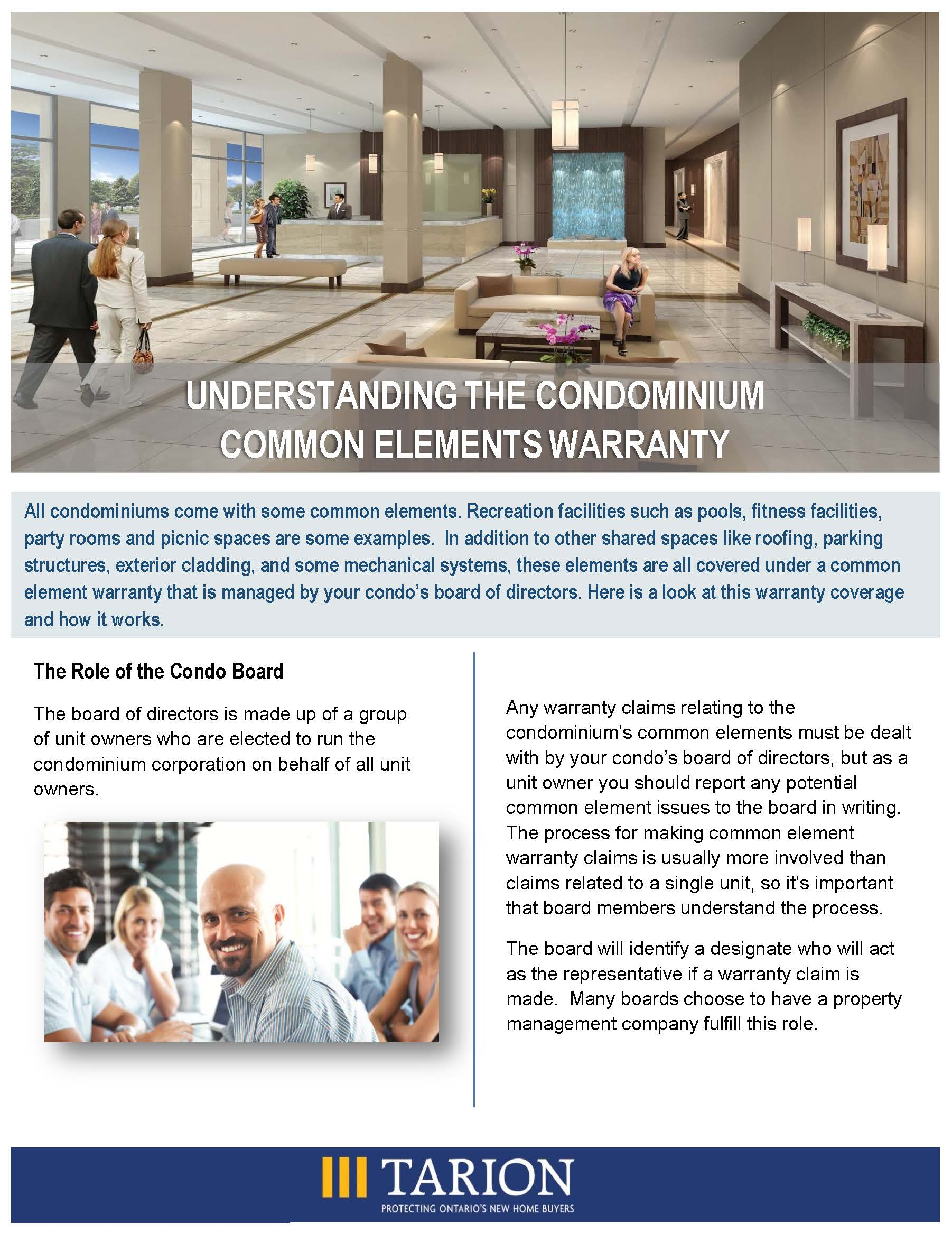 Understanding the Condominium Common Elements Warranty