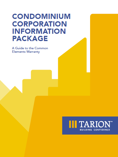Cover of the Condominium Corporation Information Package