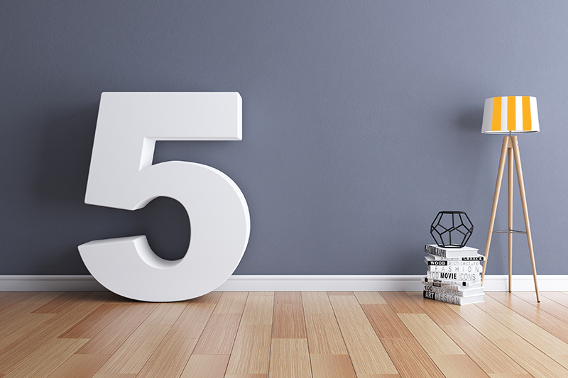 Number five within a home