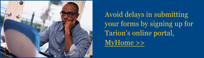 Avoid delays in submitting your forms by signing up for Tarion's online portal, MyHome