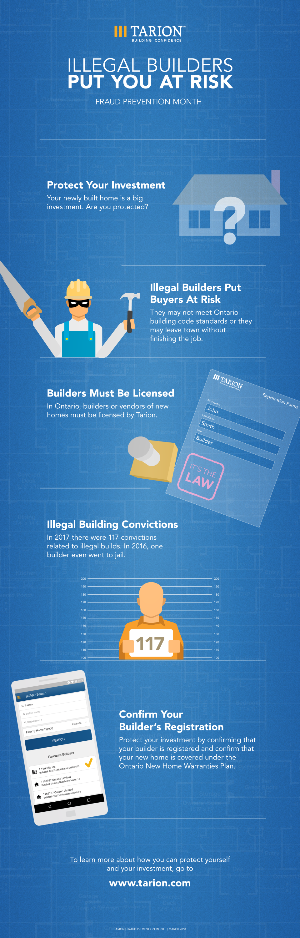Tarion Fraud Prevention Month Infographic